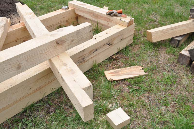 Delightful Constructing Raised Beds From Rough Cut 6x6 Lumber.